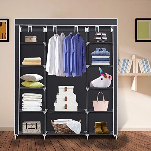 Tespo Portable Closet For Hanging Clothes Armoire