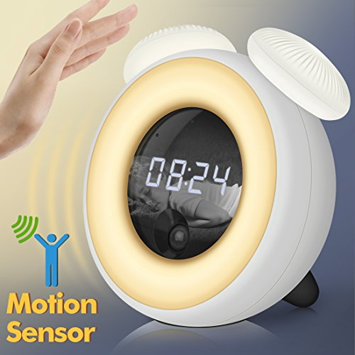 Alarm Clock For Kids Ok To Wake Led Night Light Bedside
