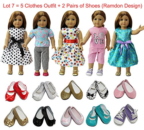 """Doll Clothes Ice Skate Shoes Boots Pink Butterfly Closet Fits American Girl 18/"""""""