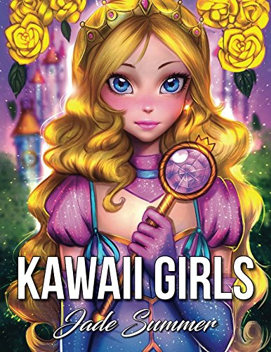 Kawaii Girls An Adult Coloring Book With Adorable Anime Portraits Cute Fantasy Women And Fun Fashion Designs Relaxation Gifts