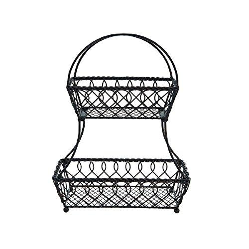 gourmet basics by mikasa 5158748 loop and lattice metal 2